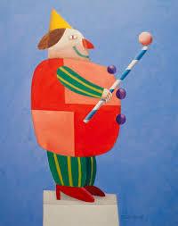 Gustavo Rosa Institute - Palhaço equilibrando bolas sobre bastão