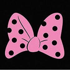 Amazon Com Minnie S Bow Pink Vinyl Car Window Decal Sticker Automotive