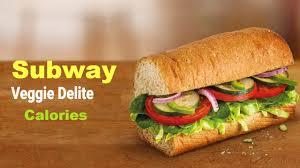subway veggie delight calories