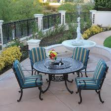 patio table with lazy susan and ice