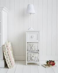 sweetheart narrow white bedside