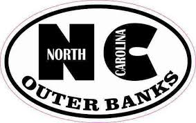 Obx Outer Banks North Carolina Oval Car Window Bumper Sticker Decal 5 X 3