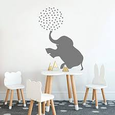 Wwttoo Circus Elephant Wall Decal Baby Girl Boy Nursery Sticker Animal Zoo Kids Decor Decals Bedroom Home Decorate 57x87cm Educational Toys Planet