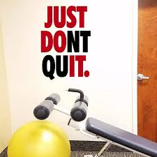 Amazon Com Jeyfel Decals Fitness Wall Decals Just Don T Quit Just Do It Vinyl Wall Art Sticker Decal Gym Home Kitchen