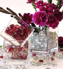 decorative glass gems for vase filler