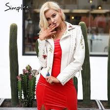 fl faux leather jacket white basic