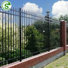 China Black Steel Fence 6ft Wrought Iron Fence For Garden China Wrought Iron Fence Steel Fence