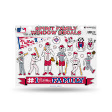 Philadelphia Phillies Official Mlb 11 Inch X 11 Inch Large Family Car Decal Sheet By Rico Walmart Com Walmart Com