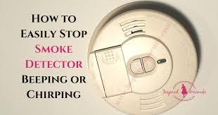 smoke detector beeping or chirping