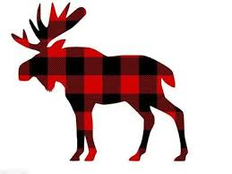 Moose In Red Plaid Decal Sticker For Car Truck Window Mirror Ebay