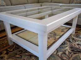 door becomes a glass top coffee table diy