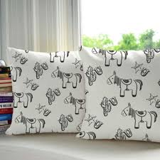 Kids Western Horse Pillow Covers And Or From Roomcraft On Etsy
