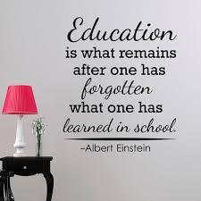classroom vinyl wall decals albert einstein quotes education