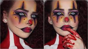 sultry creepy clown halloween makeup