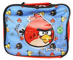 Angry Birds Bird Type Pattern Red and Blue Insulated Lunch Bag -  Walmart.com - Walmart.com