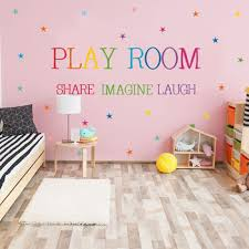 Colored Pattern Play Room Wall Sticker Kids Rooms Bedroom Decorations Wallpaper English Proverbs Mural Removable Stickers Leather Bag