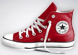 converse red leather chuck taylor