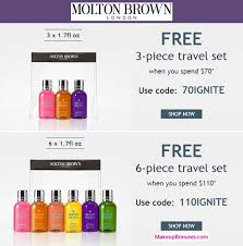 molton brown free gift sets w purchase