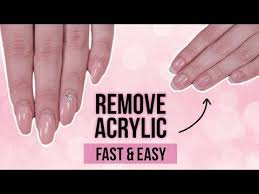 how to remove acrylics fast and