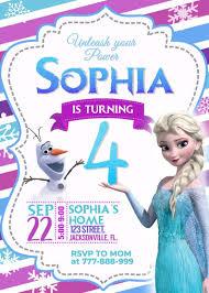 Frozen 2 Birthday Invitation Girl Birthday Invitation Purple