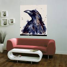Shop Full Color Painted Crow Modern Art Full Color Wall Decal Sticker Sticker Decal Size 22x26 Frst Overstock 15095223