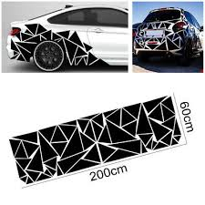 1pcs Glossy Black Freestanding Triangle Graphics Decal Sticker For Car Side Body Ebay