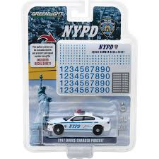 1 64 Scale 2017 Dodge Charger New York City Police Dept Nypd With Squad No Decal By Greenlight