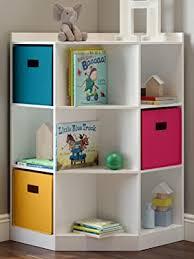 Amazon Com Riverridge 6 Cubby 3 Shelf Kids Corner Cabinet Gray Home Kitchen