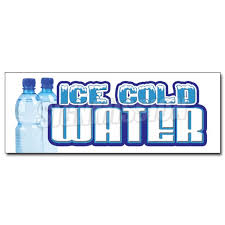 12 Ice Cold Water Decal Sticker Bottled Water Stand Bottle Spring Iced Drinks Walmart Com Walmart Com