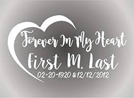 Amazon Com Bermuda Shorts Graphics Forever In My Heart In Loving Memory Vinyl Decal Vehicle Decal Memorabilia White Automotive