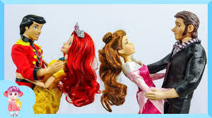 Video - Rapunzel, Elsa, Barbie doll makeup and dress up to party ...