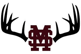 Antlers And Mississippi State Decal With 3 Default Sizes And Custom Sizes Available Mississippi State Decal Computer Decal Mississippi State Silhouette Vinyl