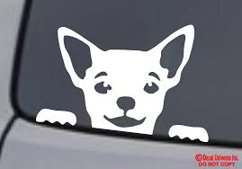 Chihuahua Face Vinyl Decal Sticker Car Rear Window Wall Bumper Dog Puppy Love For Sale Online
