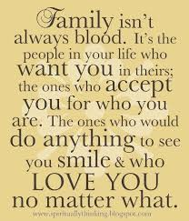 made me think of my best friend russi she isn t family by blood