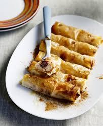 cream cheese filo rolls with honey