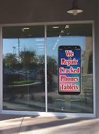Cell Phone Tablet Repair Window Wall Sticker Business Advertising Sales Ebay