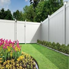 Freedom Ready To Assemble Emblem 6 Ft H X 8 Ft W White Vinyl Flat Top Fence Panel Lowes Com Backyard Fences White Vinyl Fence Vinyl Privacy Fence