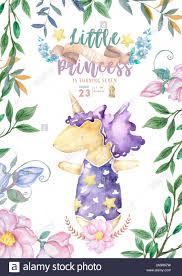 Invitaciones Para Baby Shower Con Lindo Unicornio Es Una Chica