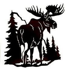 Moose Forest Mountain Tree Scene Vinyl Decal Sticker For Car Truck Bumper Wall Ebay