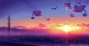 sunset anime hd wallpapers desktop