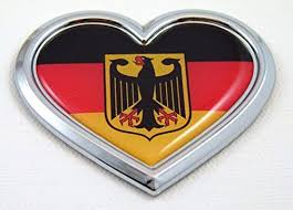 Car Chrome Decals Cbhrt077 Germany Heart Flag Chrome Emblem Car Decal