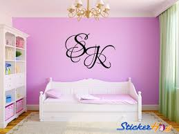 Personalized Two Letter Initial Monogram Name Wall Decals