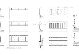 railing cad drawings autocad blocks