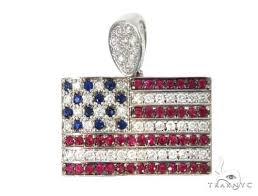 american flag pendant 45582 gold 14k