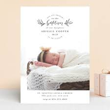 Purity Baptism Christening Announcements By Anastasia Makarova Minted