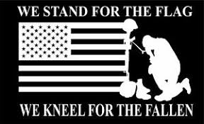 We Stand For The Flag Kneel For The Fallen Nfl 11 Wx7 H Window Car Decal Ebay