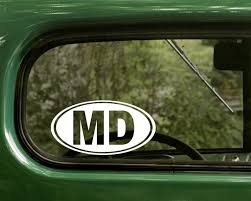 Maryland Md Oval Vinyl Decal Sticker