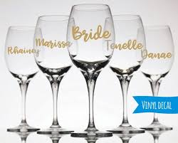 Custom Name Wine Glass Decal Champagne Flute Decal Diy Etsy