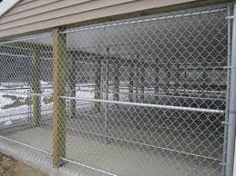 Main Line Fence Galvanized Chain Link Fences For Dog Kennels