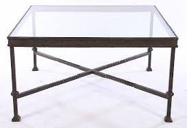 large wrought iron coffee table inset